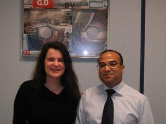 CLT English tutor, Jane, with Abdellatif