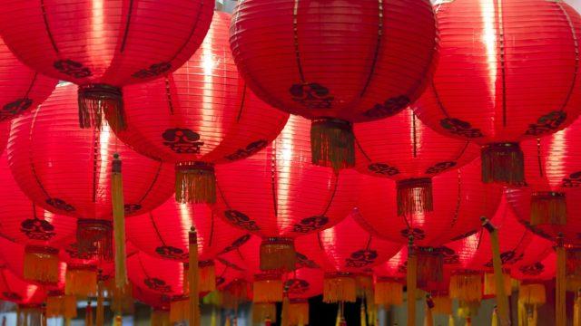 Lots of Chinese lanterns