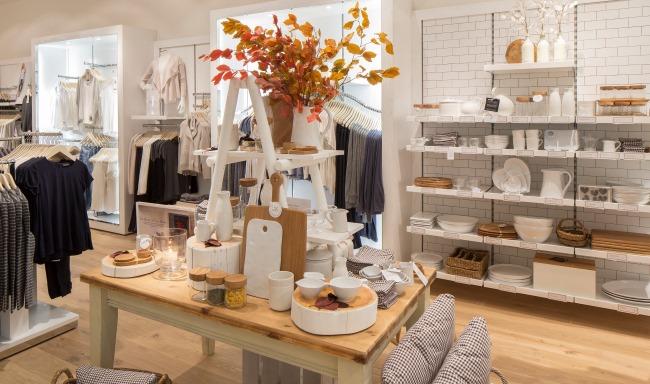 Interior of a White Company store