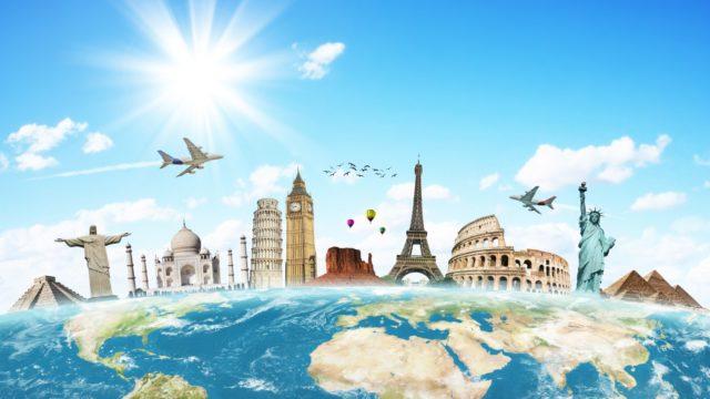 moving around the world
